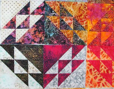 quilts made with triangles | Exuberant Color | Page 6