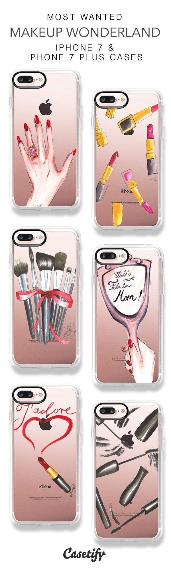 Most Wanted Makeup Wonderland iPhone 7 Cases & iPhone 7 Plus Cases here > https://www.casetify.com/dorinus/collection