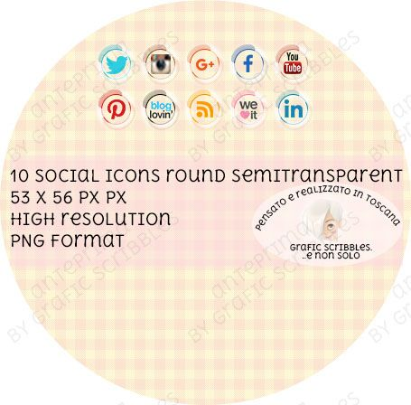 10 social icons for your web page http://graficscribbles.blogspot.it/2016/02/social-icons-buttons-pulsanti-network.html #icons   #buttons  #socialnetwork
