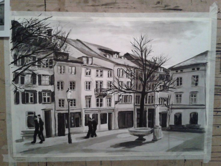 Ink Drawing - Winterthur