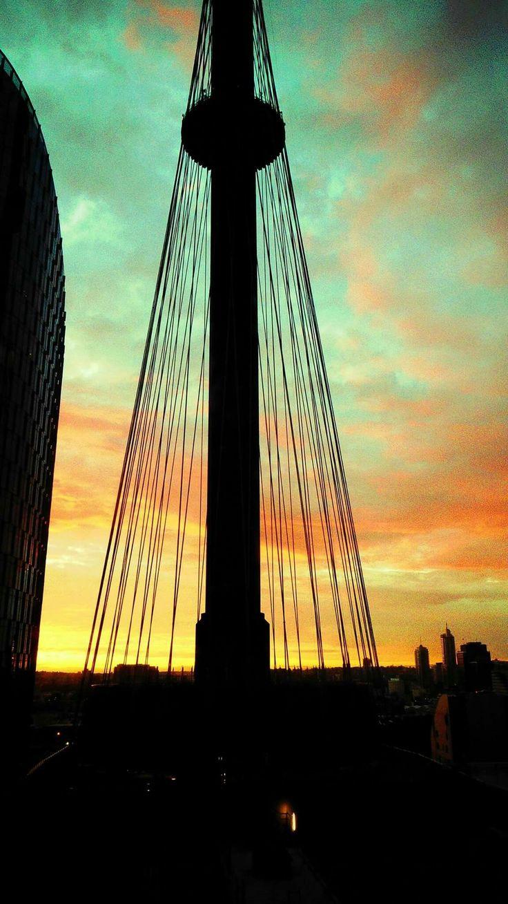 Sunrise thru Centrepoint Tower