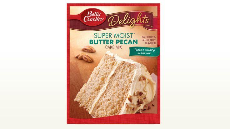 Betty crocker baking cake mixes butter pecan butter