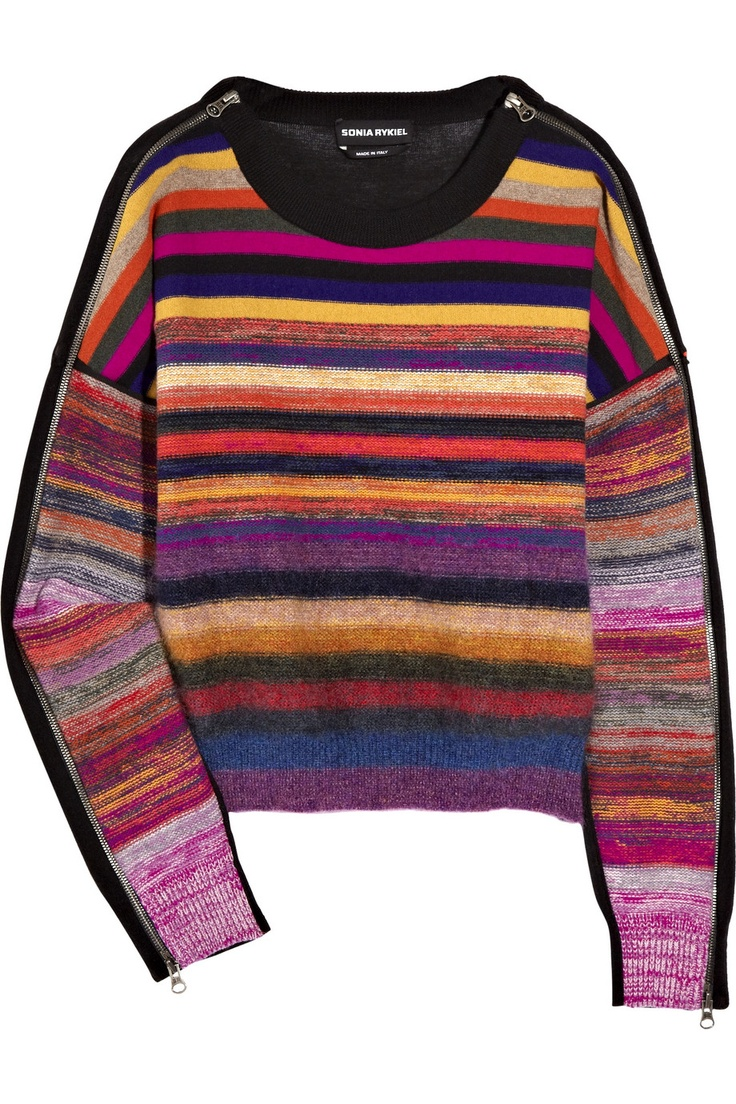 sonia rykiel wool-blend striped sweater