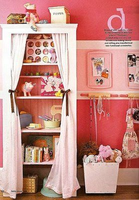 totally want to use some of these ideas in my cupcake craft room. (baking sheet magnet boards, rolling pins with hooks, etc.)