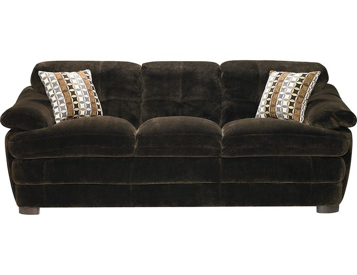 Yukon Chocolate Textured Microsuede Sofa, (YUKONC-S) | The Brick | Condo  Ideas | Pinterest | Bricks, Accent pieces and Mattress