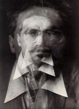 """Alvin Langdon Coburn """"Vortograph of Ezra Pound"""" (1917)   La poesía en el campo expandido"""