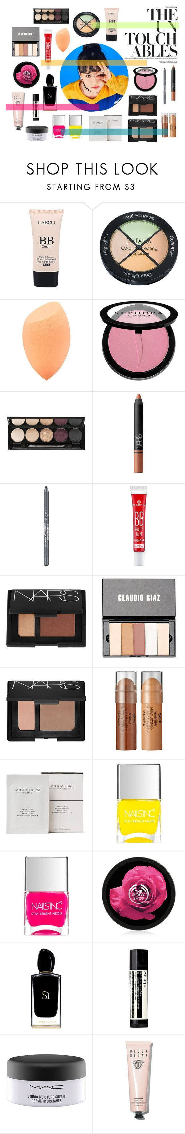 """""""Untouchable"""" by livefastdng ❤ liked on Polyvore featuring beauty, Isadora, Sephora Collection, Witchery, NARS Cosmetics, Claudio Riaz, Space NK, Nails Inc., Giorgio Armani and Aesop"""
