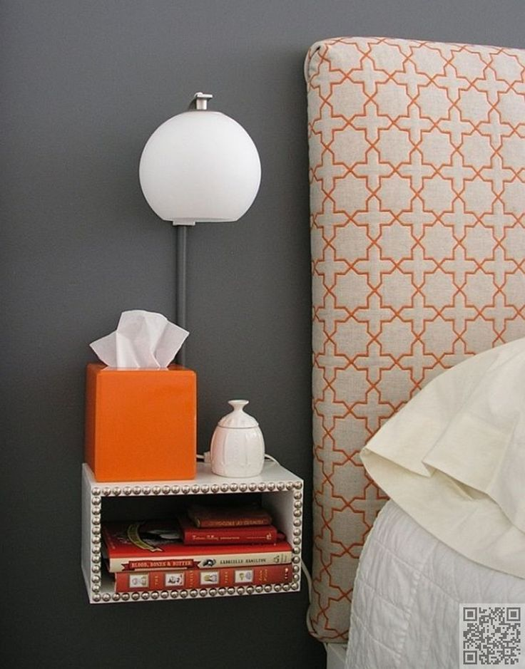 25. #Floating Night #Stand - Space #Saving Nightstands for #Small Bedrooms ... → DIY #Spaces