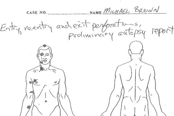AUTOPSY SHOWS MICHAEL BROWN WAS STRUCK AT LEAST 6 TIMES .