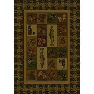"United Weavers of America Genesis Brown Timberland Area Rug Rug Size: 7'10"" x 10'6"""