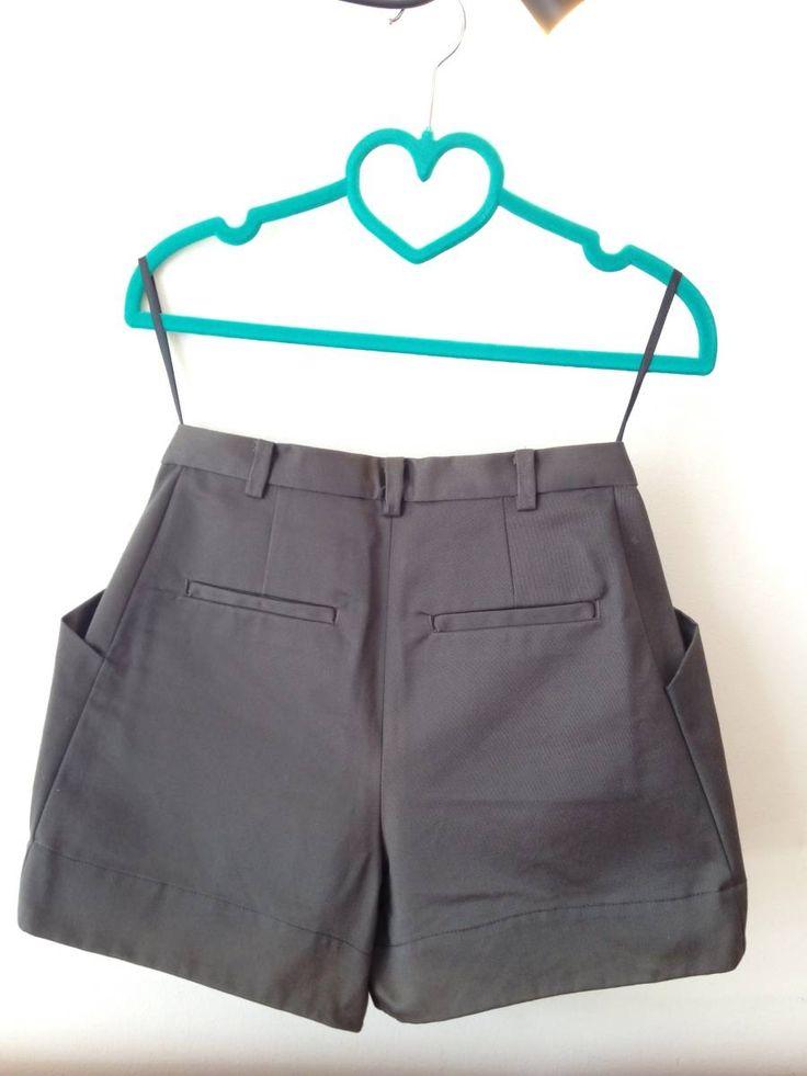 lindo shorts de alfaiataria maria bonita extra - short maria bonita extra