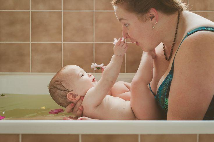 Studio 22 Photography - New England NSW - Herbal Bath -baby, bath, birth, herbal, doula, flowers, water, Armidale