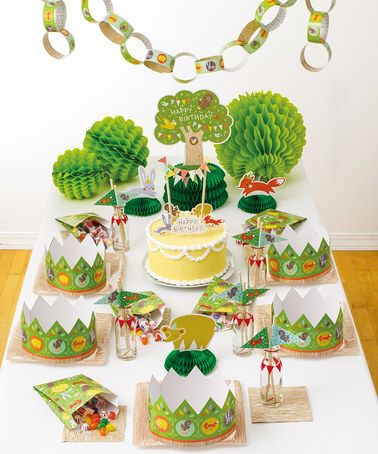 This Forest Feast Party Set is perfect! #zulilyfinds