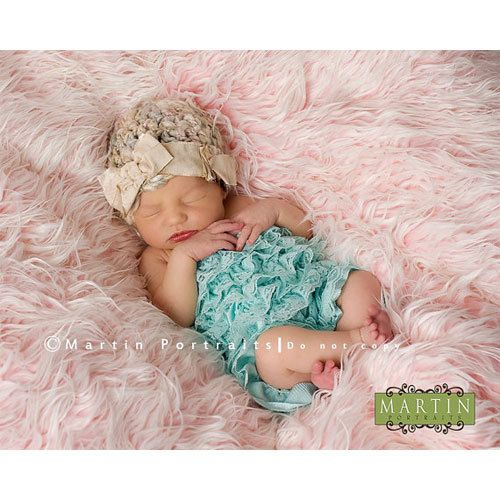 Aqua Lace Baby Romper/ Baby Clothing/ Photo by PhotographyOutlet, $10.00