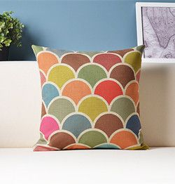 Геометрическое декоративные подушки красочные подушки домашнего декора / капа пункт Almofada / cojines Decorativos купить на AliExpress