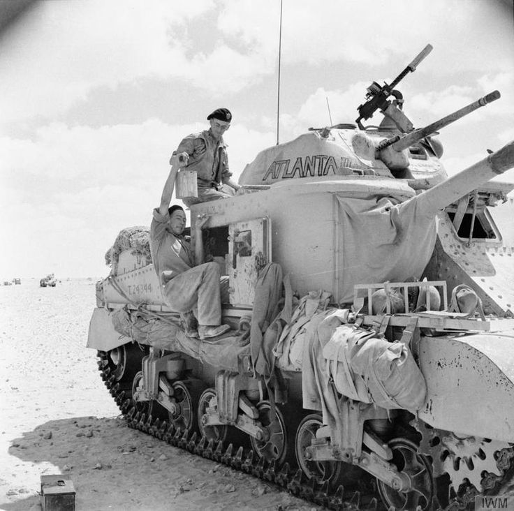 A British Grant tank, whose crew has just painted the name 'Atlanta' on its turret, 10 September 1942.