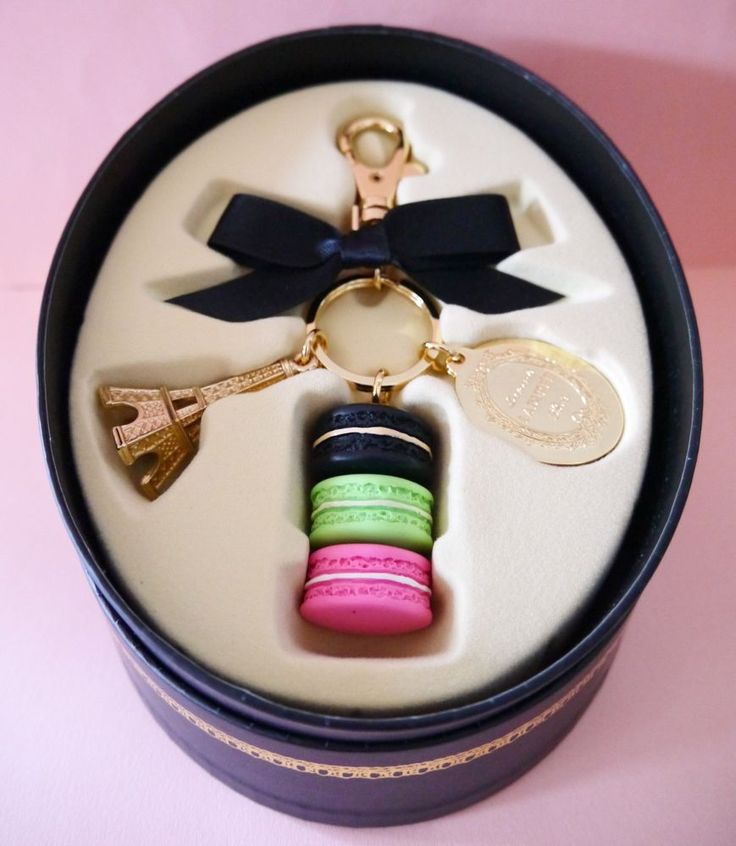 LADUREE Macaron bag charm chain Keyring Keychain Eiffel tower Black Box Japan #LADUREE