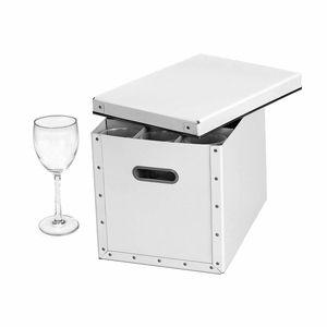Stemware Storage Box - White, Moderne | The Organizing Store