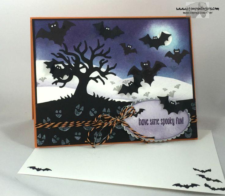 spooky fun halloween scares halloween scenes edgelits - Stampin Up Halloween Ideas