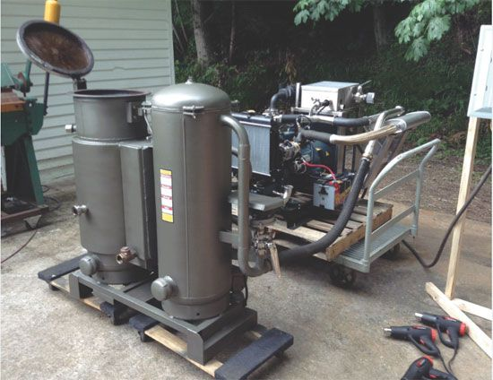 """""""Turn Wood into Free Motor Fuel with a Wood Gasifier"""" """"What can I use to fuel my backup generator that isn't petroleum based?"""" Wood gasification is again growing in popularity as people return to the land in search of clean, sustainable living. From MOTHER EARTH NEWS"""