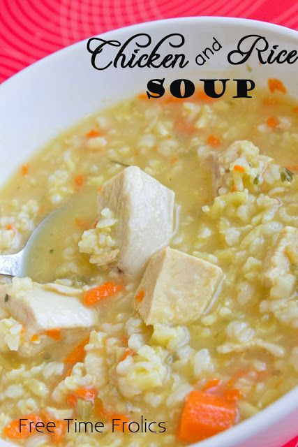 Easy Chicken and Rice Soup via Free Time Frolics #soup # recipe