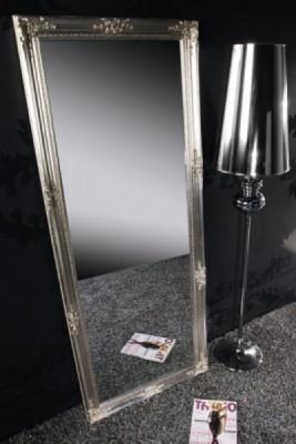 Großer Barock Spiegel RENAISSANCE silber 185x75cm Wandspiegel Großer Barock Spiegel RENAISSANCE silber 185x75cm Wandspiegel