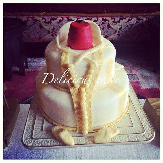 Gâteau djellaba pour circoncision