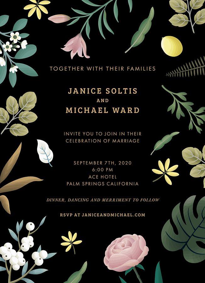 Elegant Garden Wedding card by Clap Clap on Postable.com