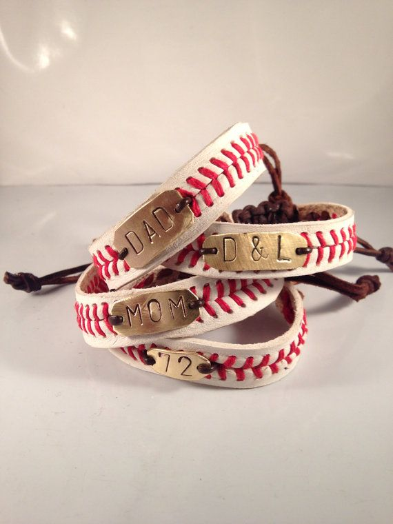 Baseball Bracelet THE REAL Baseball bracelet by LeighBeeJewelry
