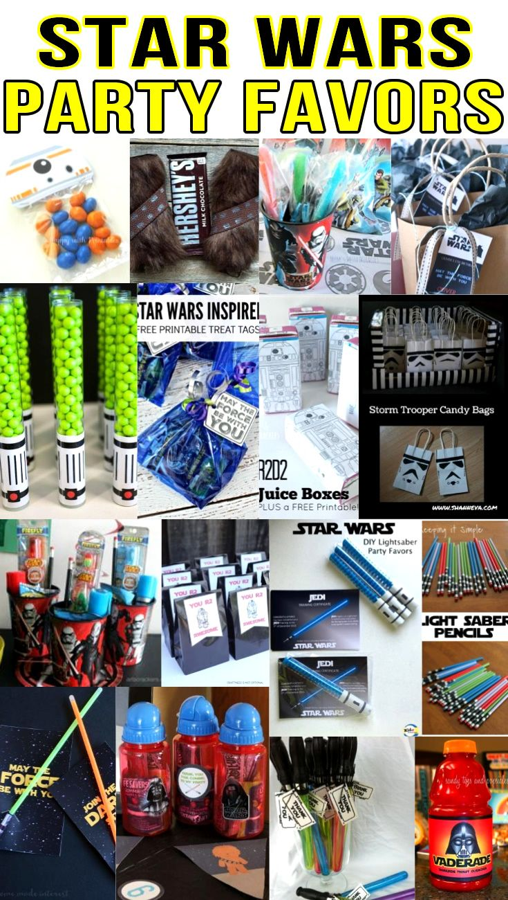 star wars party favor ideas | kid's birthday ideas | pinterest
