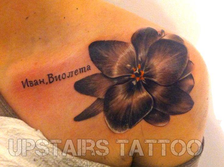 #tattoo #shoulder #flower #black #realistic by Mihai Bizduianu