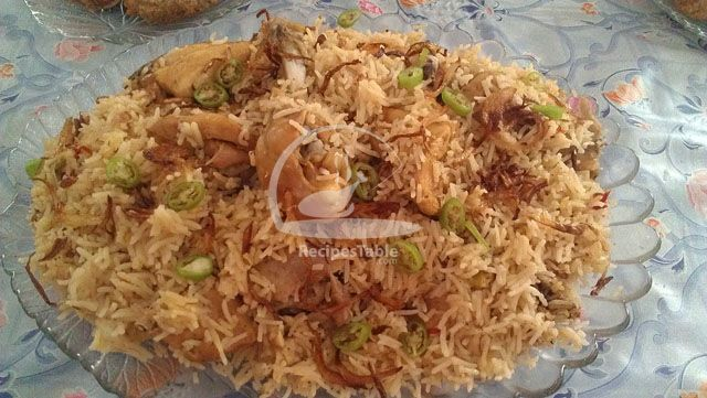 Kashmiri Chicken Pulao Recipe - Recipes Table