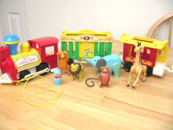 Vintage Fisher Price circus train - one of the only toys I kept from my childhood.  :)