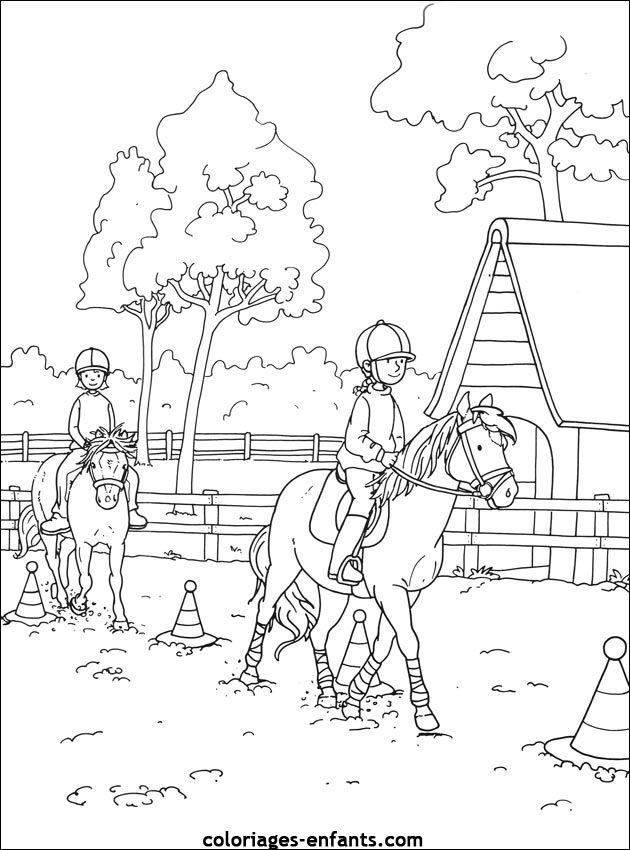 Les Coloriages d'équitation à imprimer sur Coloriages-enfants.com (avec images)   Coloriage ...