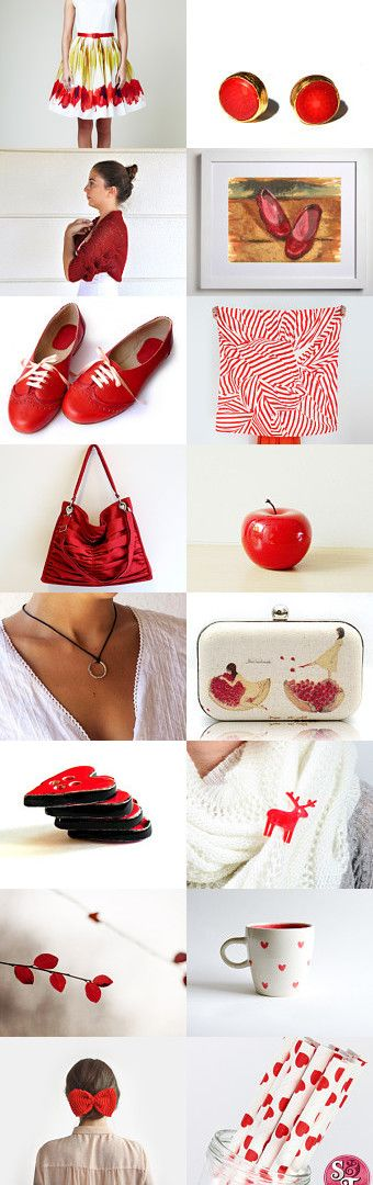 Red by Nesrin on Etsy--Pinned with TreasuryPin.com