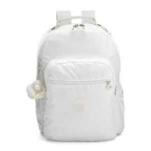 Seoul Backpack with Laptop Protection in Lacquer White #Kipling #KiplingSweeps