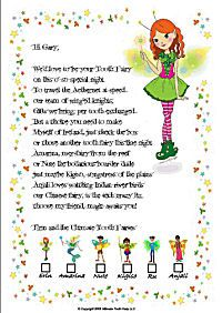 11 best tooth fairy images on pinterest tooth fairy for Fairy letters to child