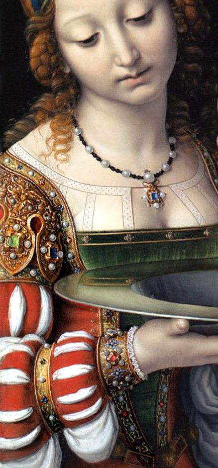 Salome with the head of St. John the Baptist - Andrea Solario, detail