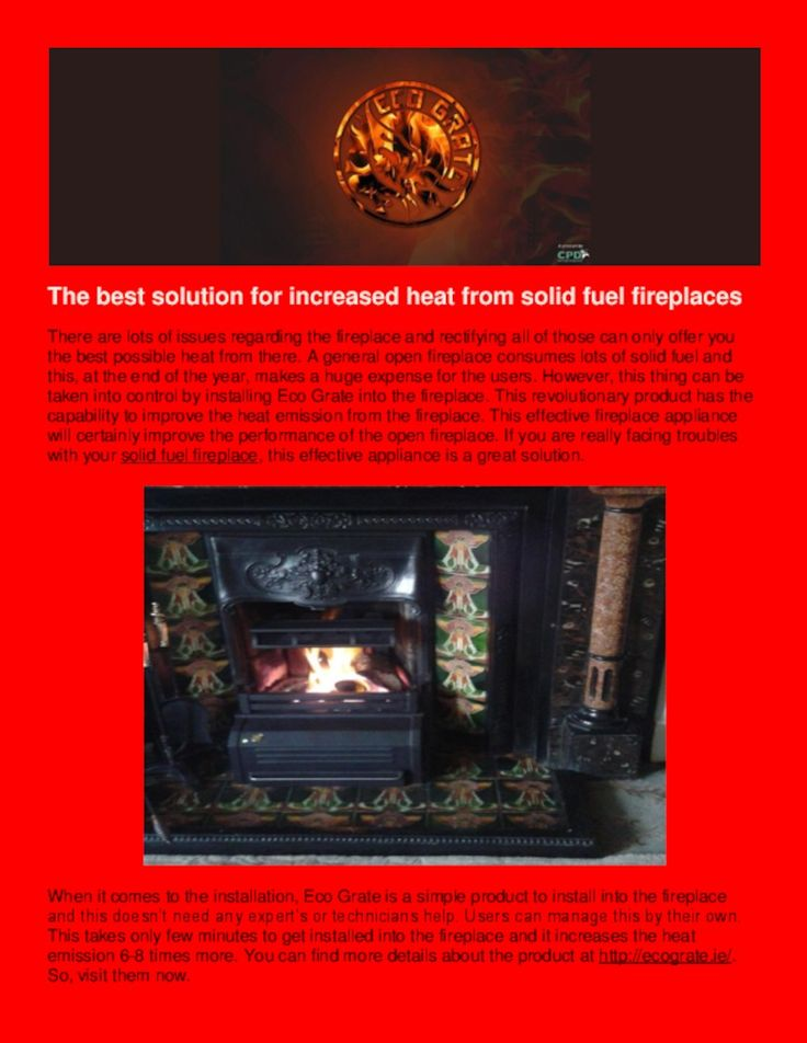 Obtain the best heat emission from your open #Fireplace by installing #EcoGrate. It will reduce the cost of solid fuel, save your expenditure and the environment as well. Read the PDF Presentation in the link below to know more .....