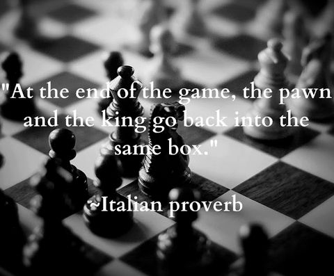 3) What this quote is saying is that the game of life is rigged. No matter what we do and no matter how we live our lives, we're all destined to end up with the same fate in the end.