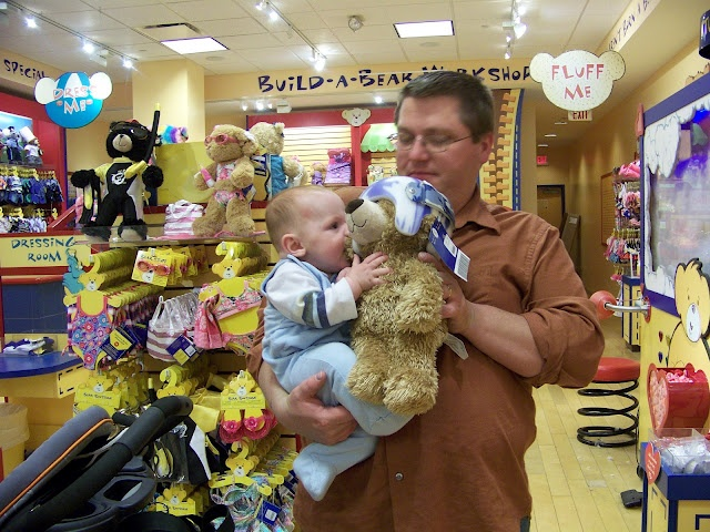 MAke a build a bear with the babies helmet once they are done!