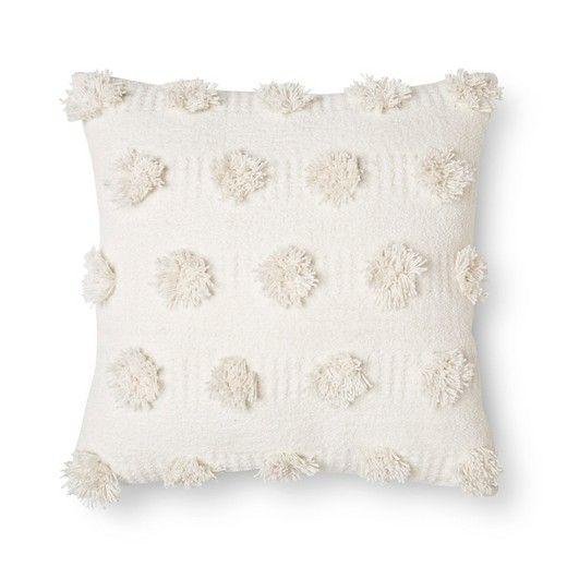 "Cream Pom Dot Square Throw Pillow (18""x18"") - Nate Berkus™ : Target"