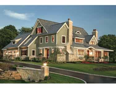 Modern Shingle Style. Craftsman Dream Home HGTV house plans.
