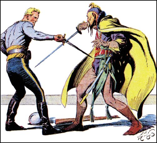 """Flash Gordon, originally conceived as a competitor to another syndicate's sci-fi strip (Buck Rogers), has had the misfortune of becoming """"quaint"""" with age... but Alex Raymond's artwork is anything but.  Every panel screams """"ADVENTURE!"""""""