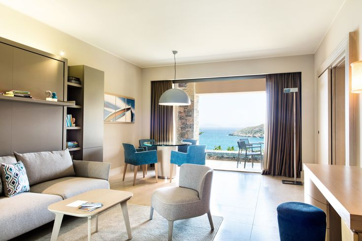Admiring every aspect of the Cove's premium suites, starting with the sea view!