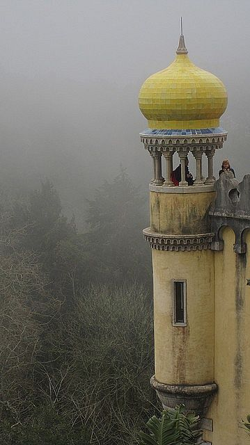 The Pena National Palace, Sintra, Portugal.  The major expression of 19th-century Romanticism in the world