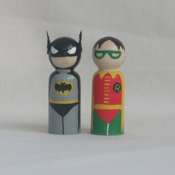 batman and robin peg people