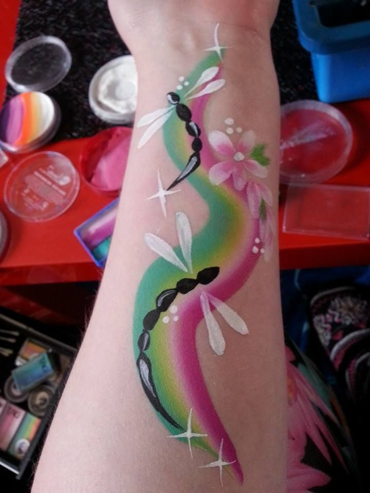 facepainting on the arm - Google Search