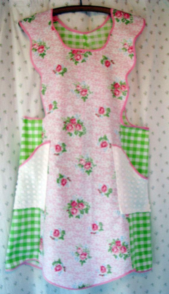 completo grembiule vintage NWT rosa su rosa di vintageroseslove