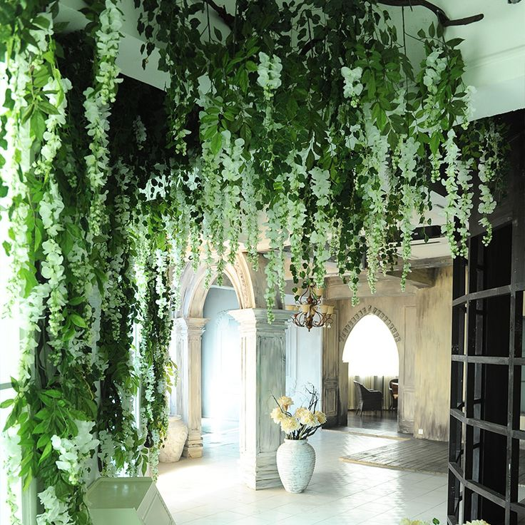 200pcs/lot Wholesale Artificial Flower Vine Wisteria Rattails Flowers Wall Photography Props Wedding Studio Decortive Flowers US $600.00